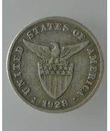 U.S Philippines 1928-M,  MULE 20 Centavos Silve... - $48.00