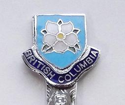 Collector Souvenir Spoon Canada BC Trail Dogwood Flower Cloisonne Emblem - $9.99