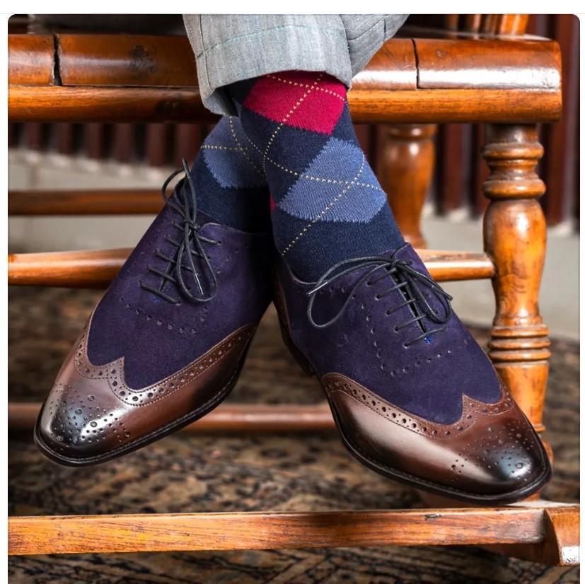 2bcb40d0a61ec Handmade men two tone shoes, men wingtip and 50 similar items
