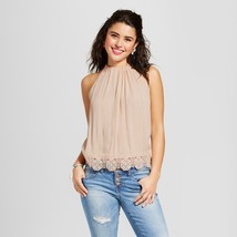 NWT Xhilaration Woment's Juniors Ivory Crochet-Trim Crop Tank Size XS - $12.33