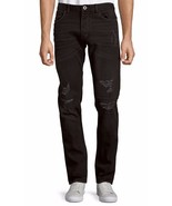 NEW MENS CALVIN KLEIN JEANS SLIM FIT RIPPED BLACK BUTTON FLY JEANS 40 x 30 - $46.99