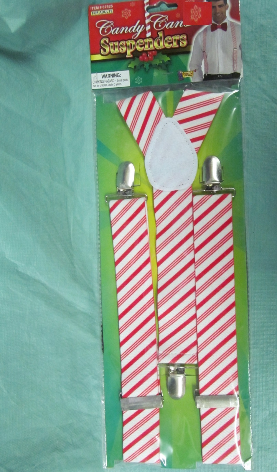 CANDY CANE STRIPED THEME SUSPENDERS