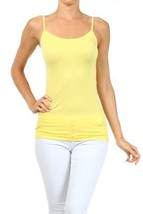 Fashion Mic Womens Solid Color Nylon Cami Top (one size, lemon) - $7.91