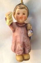 "Goebel 3"" Girl in Pink With Doll Figurine Ornament - $17.50"
