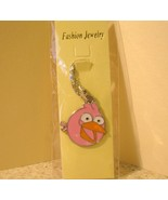 NECKLACE & PENDANT CHILDS PINK HAPPY ANGRY BIRD... - $7.99