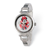 Disney Adult Size Minnie Mouse Silver-tone Watch - $55.00