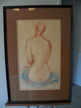 SIGNED LARGE NUDE FIGURE DRAWING OR STUDY - $66.32