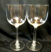 Vintage Mikasa Crystal Wine Glasses Set Of 2 With Tags - $35.68