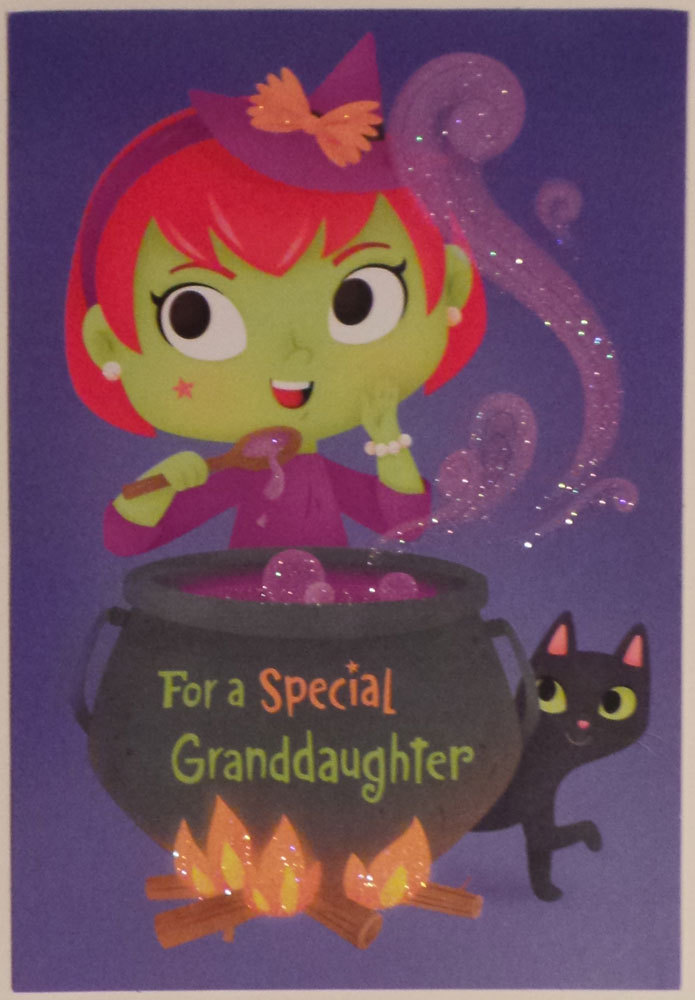 "Greeting Halloween Card ""Granddaughter"" For a Special Granddaughter"