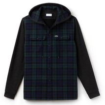 Lacoste Men's Relaxed Fit Hooded Check Cotton Flannel Shirt, Size XXL BN... - $89.75
