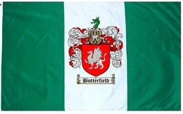 Butterfield Coat of Arms Flag / Family Crest Flag - $29.99