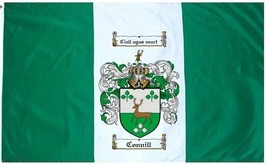 Connill Coat of Arms Flag / Family Crest Flag - $29.99