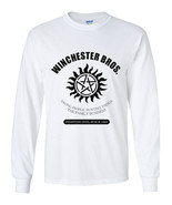 Winchester brothers supernatural Long Sleeve Men Tee Color WHITE - $21.00