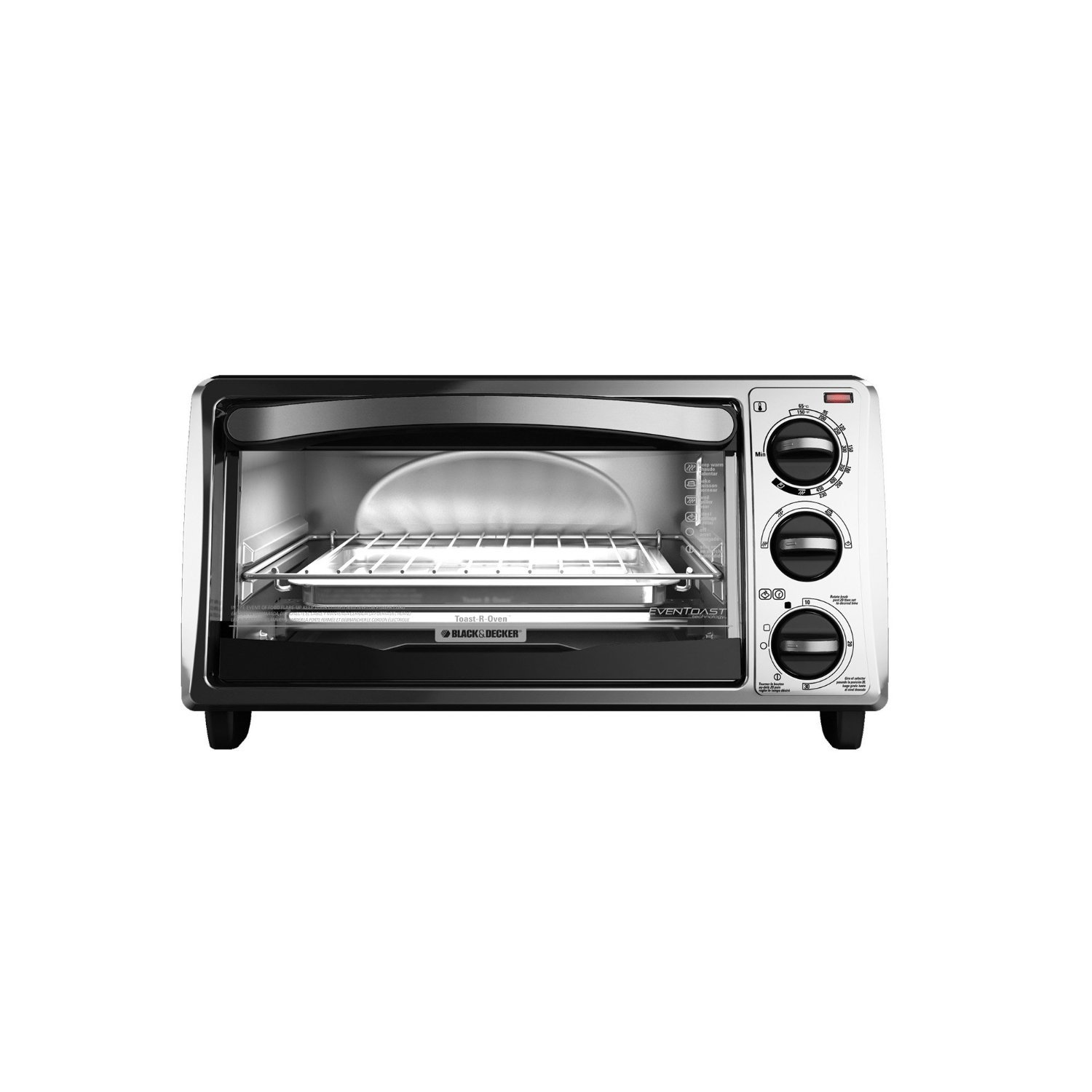Slice Toaster Oven With Spots ~ Black decker to sb slice toaster oven silver