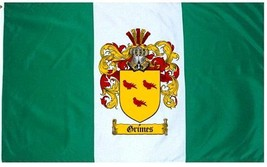 Grimes Coat of Arms Flag / Family Crest Flag - $29.99