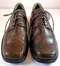 Clarks Oxford Mens Brown Leather Lace Up Shoes Size 13 M - $59.35