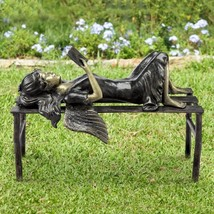 SPI Home Reading Angel Garden Sculpture Statue Fairy Girl On Bench Outdoor  - $238.00