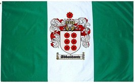 Abbondante Coat of Arms Flag / Family Crest Flag - $29.99