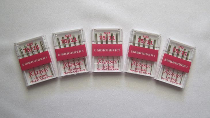 25 Klasse Machine Embroidery Needles  Size 75/11 - $9.95