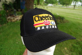 Vintage NASCAR John Andretti #43 Cheerios Betty Crocker Cap Hat Black Ad... - $13.99