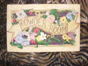 Primary image for Powder Room Wall Plaque