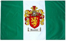 Benedetti Coat of Arms Flag / Family Crest Flag - $29.99
