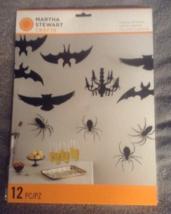Martha Stewart Crafts Halloween Spooky Night Hanging Silhouette 12 pc Sp... - $9.99