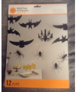 Martha Stewart Crafts Halloween Spooky Night Hanging Silhouette 12 pc Sp... - $9.99