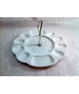 Westmoreland Egg Plate with Metal Handle ~ Vintage White Milk Glass, Ser... - $19.99