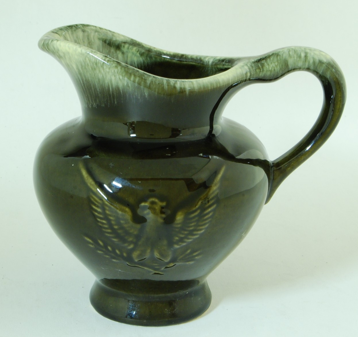 Hull pottery eagle pitcher dark olive green and 50 similar items reviewsmspy