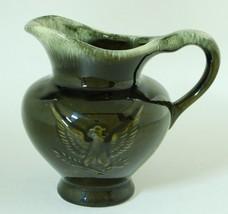 Hull Pottery Eagle Pitcher Dark Olive Green Milk Jug F91 - $12.50