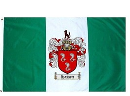 Hassett Coat of Arms Flag / Family Crest Flag - $29.99