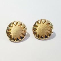 Pretty Florentine 'star' Design Vintage Clip On Earrings Crown Trifari - $22.00