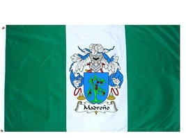 Madrono Coat of Arms Flag / Family Crest Flag - $29.99