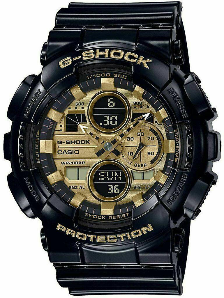 Casio G-Shock GA-140GB-1A1 Analog-Digital Gold Dial Black Strap Men's Watch