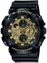 Casio G-Shock GA-140GB-1A1 Analog-Digital Gold Dial Black Strap Men's Watch image 1