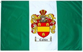 Cartier Coat of Arms Flag / Family Crest Flag - $29.99
