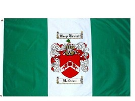 Hebbirn Coat of Arms Flag / Family Crest Flag - $29.99