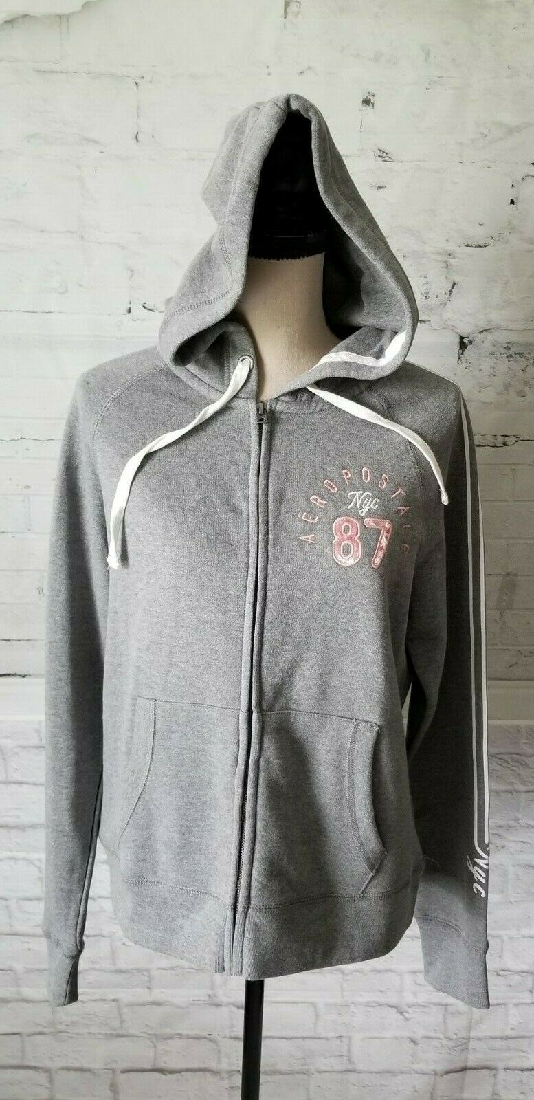 Aeropostale Women's Hoodie Sweater Shirt Size Large Gray ...