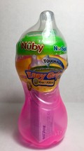 Nuby No Spill Easy Grip Cup Step 2 Pink 10 ounces Touch Flo Valve New Sealed - $9.85