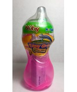 Nuby No Spill Easy Grip Cup Step 2 Pink 10 ounces Touch Flo Valve New Sealed - $13.08 CAD