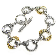 Gerochristo 6276 - Solid 18K Gold & Silver - Basic Charm Bracelet  - $1,500.00
