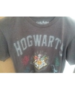Graphic Tee Shirt S Charcoal Gray Harry Potter  Hogwarts School of Wizardry - $11.99