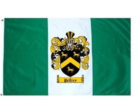 Pelfrey Coat of Arms Flag / Family Crest Flag - $29.99