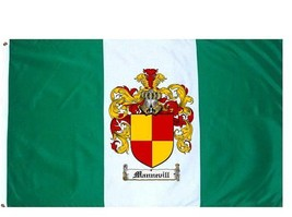 Mannevill Coat of Arms Flag / Family Crest Flag - $29.99