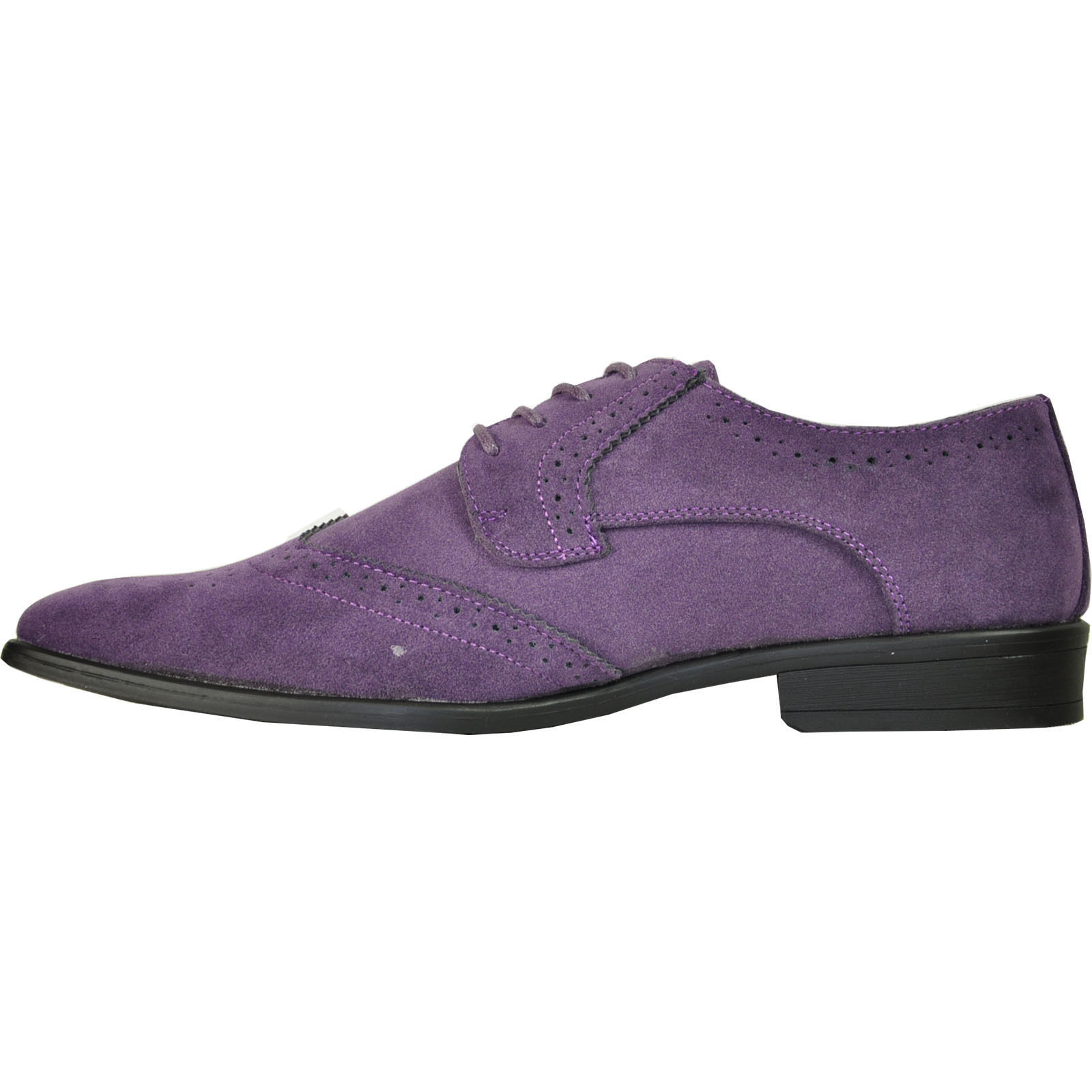 BRAVO//KING-3 Dress Shoe Classic Faux Suede Oxford Leather Lining Grey