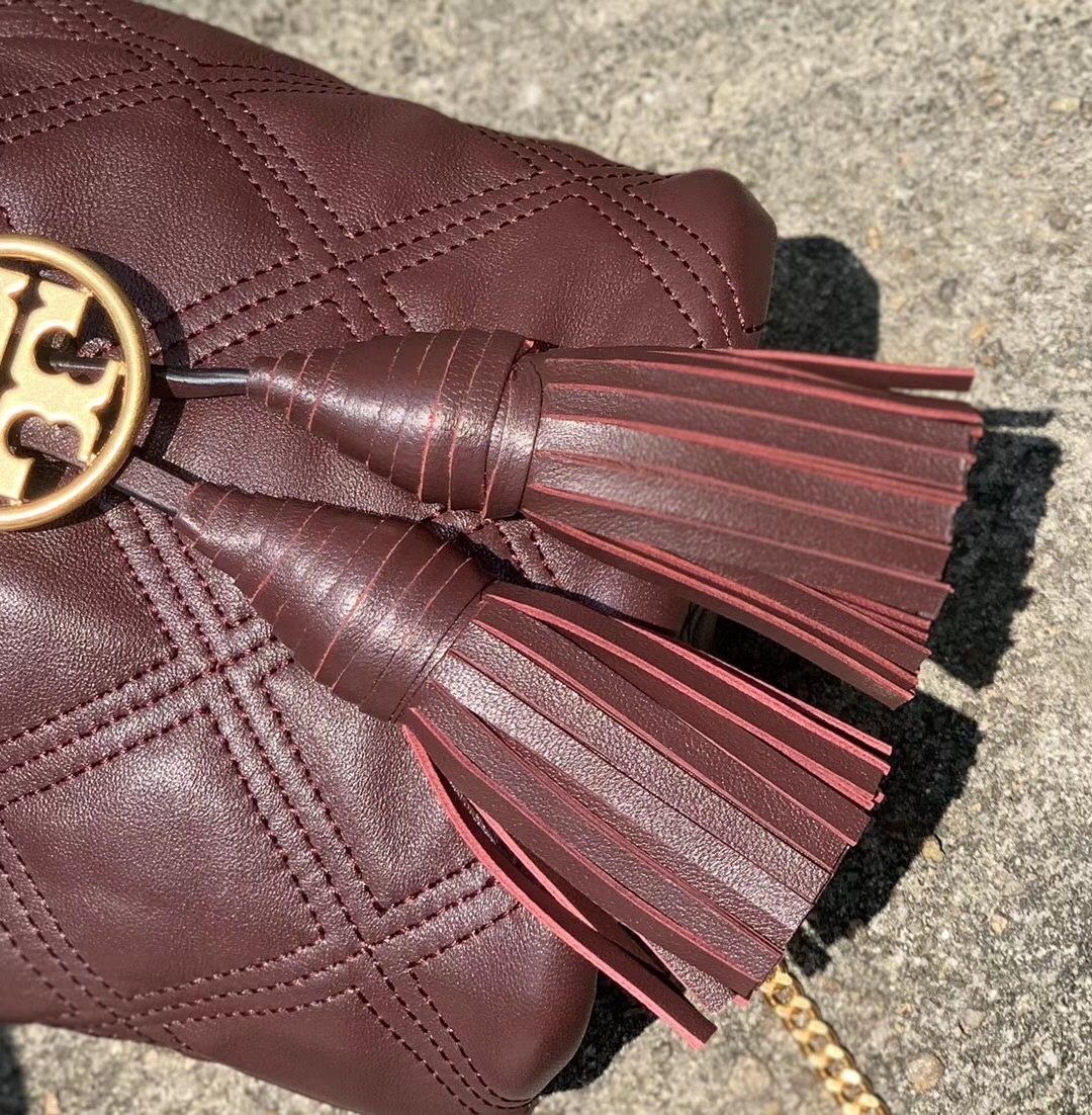 Tory Burch Chelsea Quilted Leather Drawstring Bag