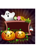 Banner or Background for Halloween Party Concept with Pumpkins-Digital c... - $4.00