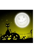 Background for Halloween Party Dangerous Cat an... - $3.85