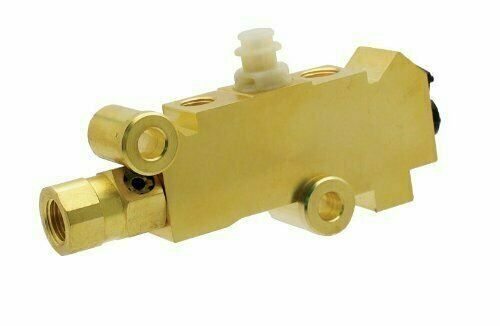 A-Team PB216 - Proportioning Valve, Brass Finish for Disc/Drum Brakes
